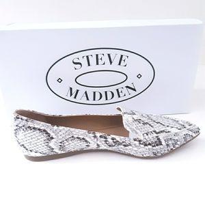 Steve Madden Studded Snake Print Slip-on F…